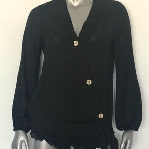 Merokeety Black Blouse